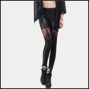 Miss Babydoll Pants & Jumpsuits - ❤️NEW Sexy Lace Vegan Leather Leggings Pants 3